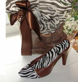 Zebra Print Chocolate Shoe