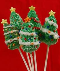 Christmas Tree Chocolate Lollipops